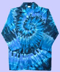 Grey Spiral Tie-dye Doctor Coat