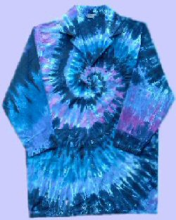 Tie-dye Raspberry Spiral Doctor-Lab Coat