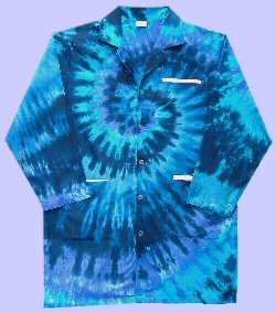 Tie-dye Teal Spiral Doctor-Lab Coat