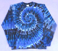 Long Sleeve T-shirt Grey Spiral Tie-dye