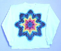 Rainbow Star on White Long Sleeve T-shirt