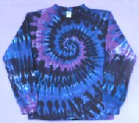 Long Sleeve T-shirt Raspberry Spiral Tie-dye