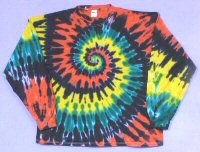 Long Sleeve T-shirt Rasta Spiral Tie-dye