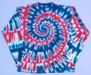 Lomg Sleeve T-shirt Red, White, and Blue Spiral