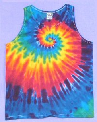 Tie dye Mens Tank Top Rainbow Spiral