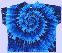 Scrub Top Blues Spiral Tie-dye