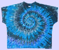 Scrub Top Grey Spiral Tie-dye