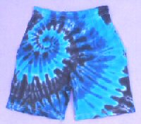 Blues Spiral Tie Dye Shorts