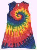 Sleeveless Girls Dress Rainbow Spiral Tie-dye
