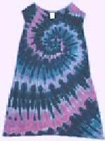 Sleeveless Girls Dress<br>Raspberry Spiral Tie-dye