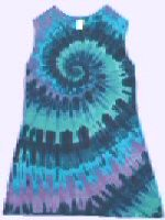 Tie-dye Girls Sleeveless Dress Teal-Spiral
