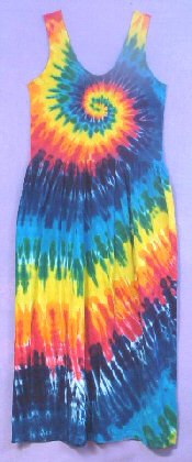 Tie-dye Sun Dress Rainbow Spiral