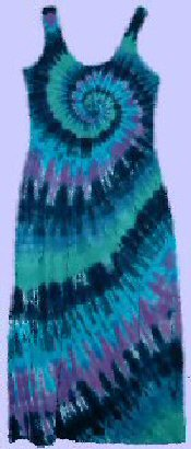Sun Dress Teal Spiral Tie-dye