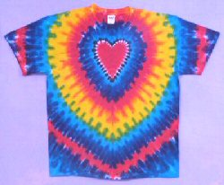 T-Shirt Rainbow Heart Tie-dye