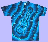 Blues Guitar Tie-dye T-shirt