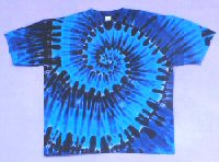T-shirt Blues Spiral Tie-dye