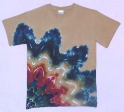 Earth-Rising-Star-on-Chino Tie-dye T-shirt