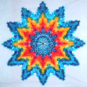 Tie Dye Rainbow Star Tapestry By Dyed In Vermont