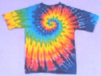 Youth T-shirt Rainbow Spiral Tie-dye